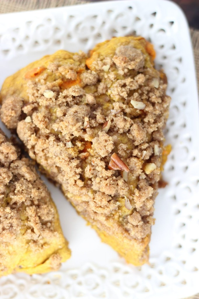 pumpkin pecan scones with brown sugar streusel 7