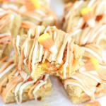Candy Corn White Chocolate Blondies