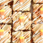 white chocolate candy corn blondies 22