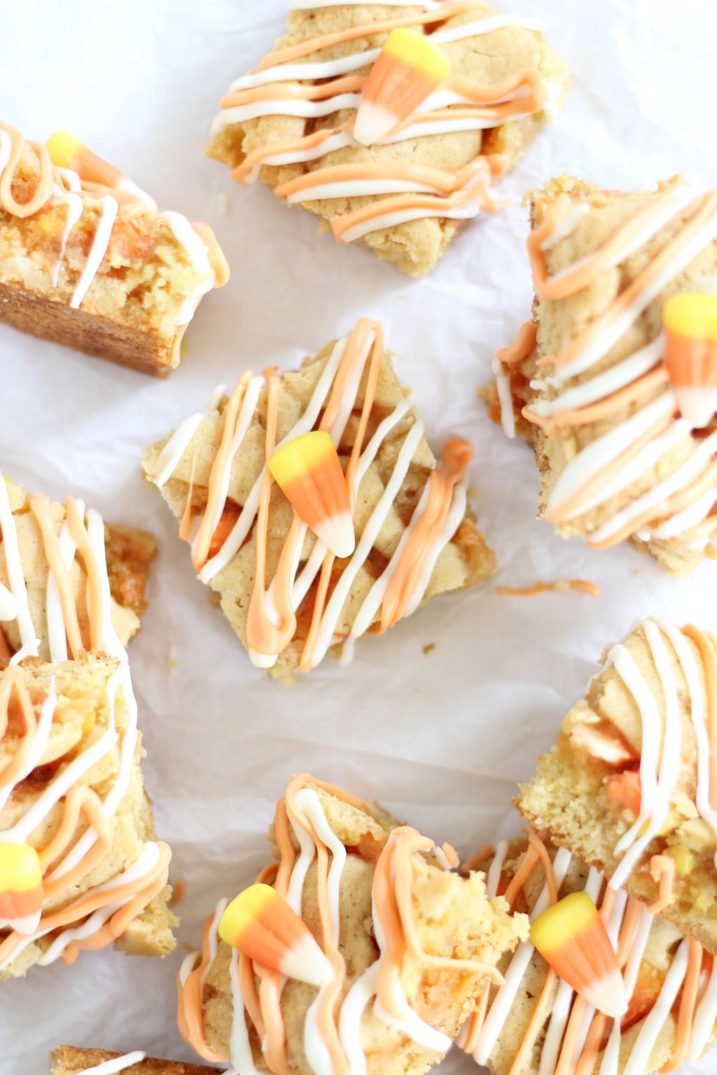 Buttery and rich white chocolate blondies get a Halloween makeover ...