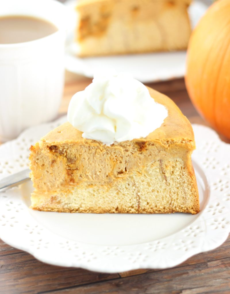 cinnamon roll pumpkin cheesecake 5