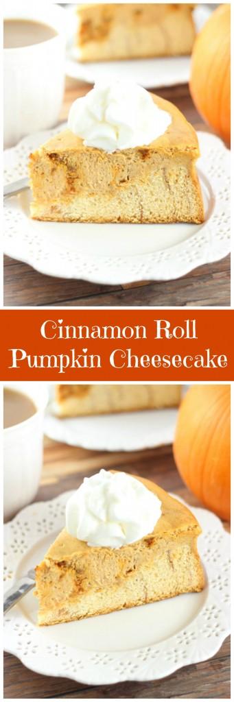 cinnamon roll pumpkin cheesecake pin