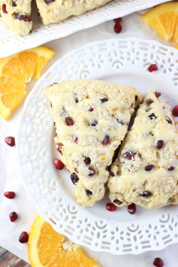 cranberry orange scones with orange glaze 13