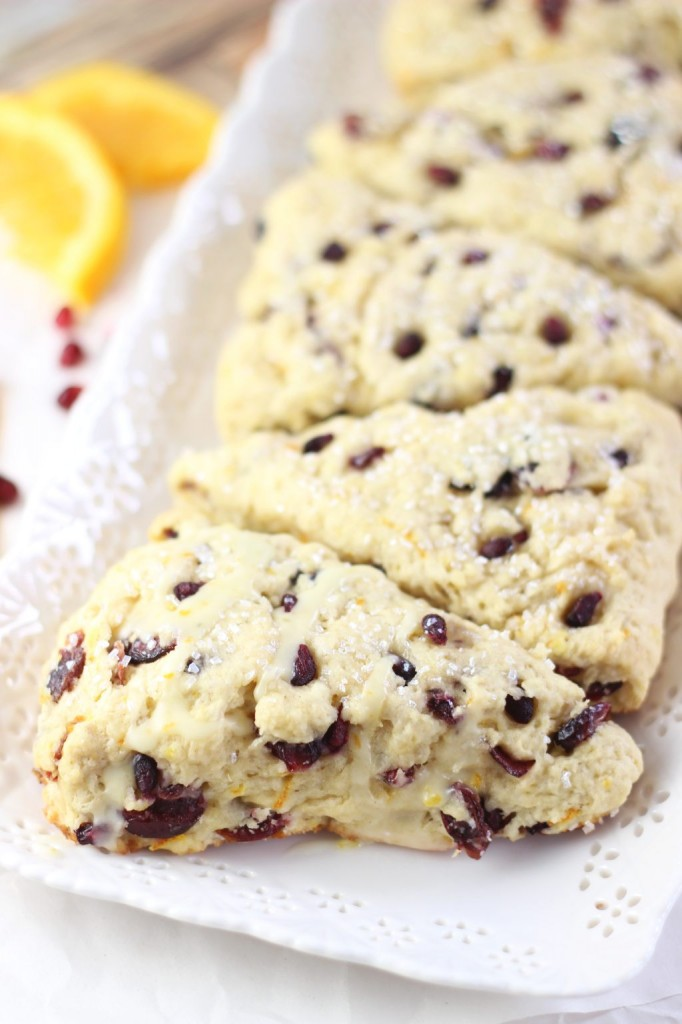 cranberry orange scones with orange glaze 19