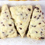 cranberry orange scones with orange glaze 25