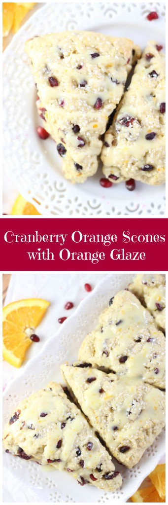 cranberry orange scones with orange glaze pin