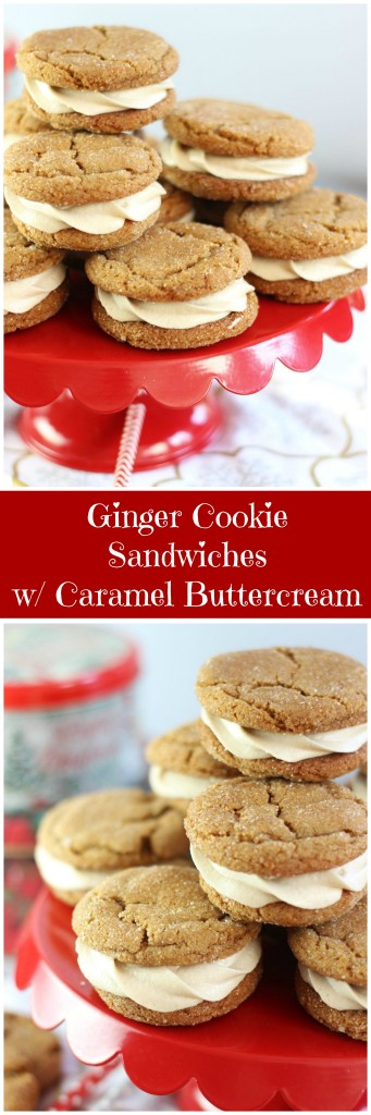 ginger cookie sandwiches with caramel buttercream 21