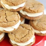 Ginger Cookie Sandwiches with Caramel Buttercream