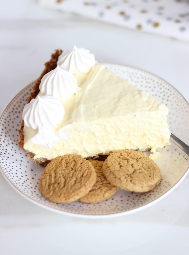 no bake eggnog cheesecake with gingersnap crust 12