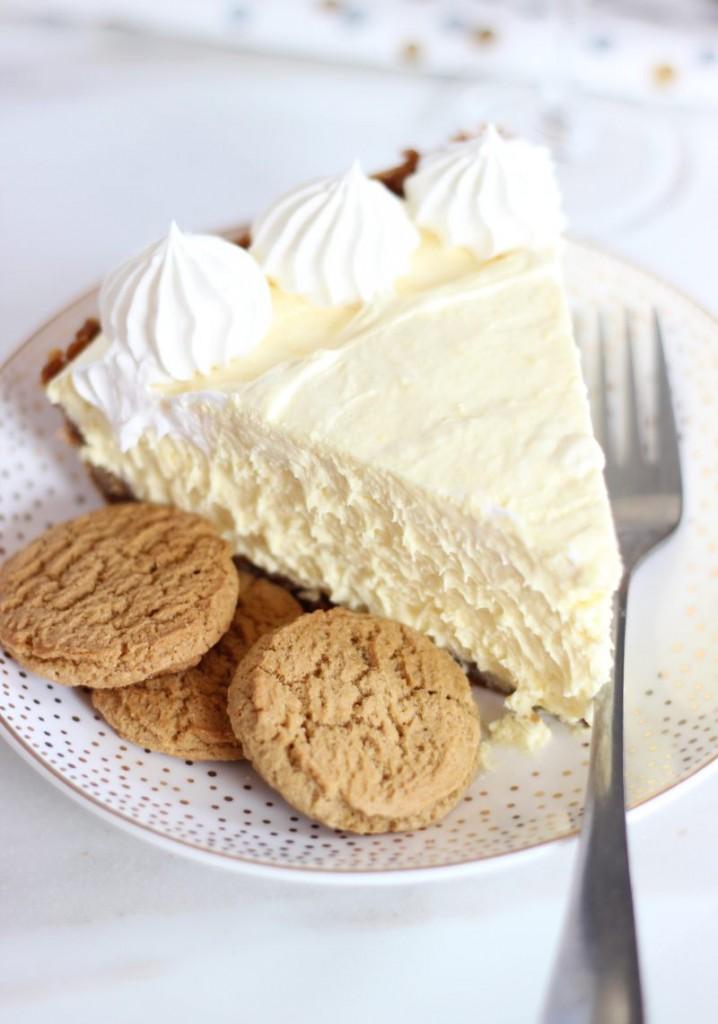 no bake eggnog cheesecake with gingersnap crust 13