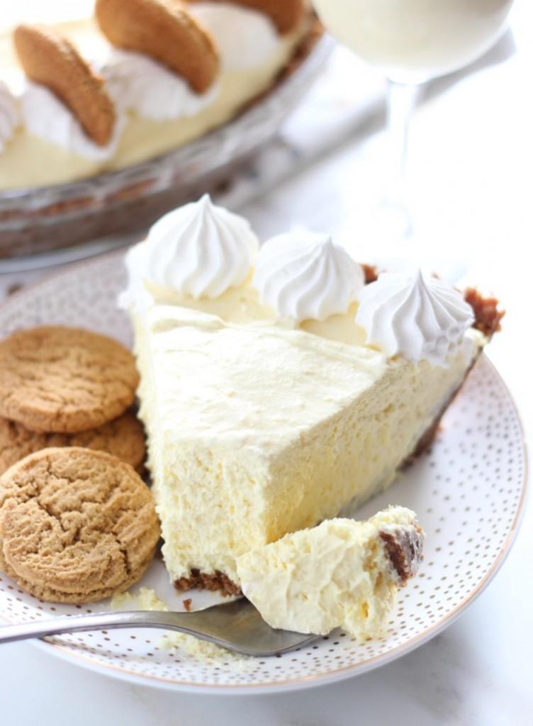 no bake eggnog cheesecake with gingersnap crust 17