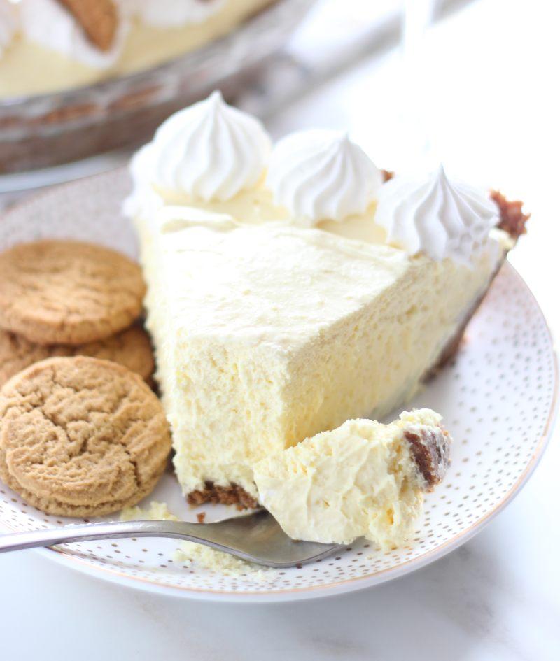 no bake eggnog cheesecake with gingersnap crust 19