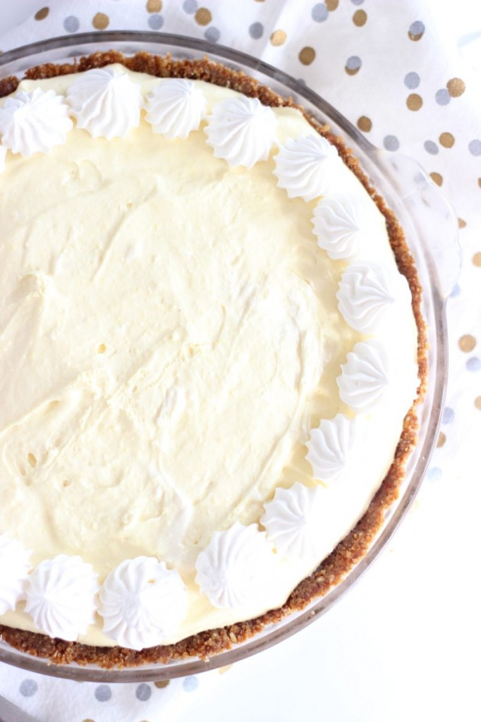 no bake eggnog cheesecake with gingersnap crust 2