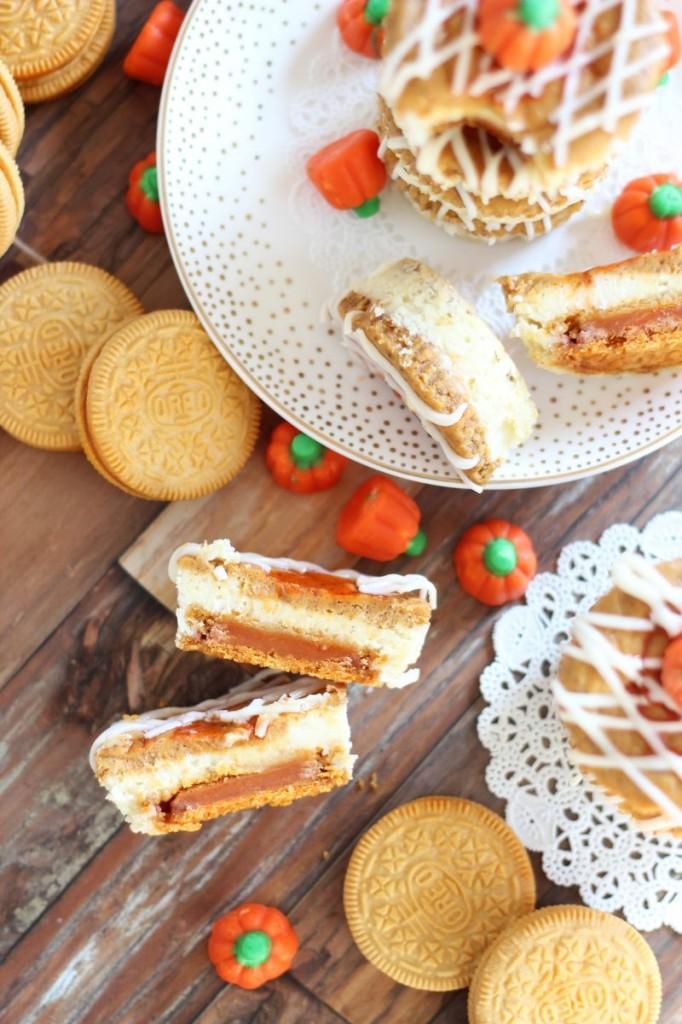 pumpkin spice oreo cheesecakes 15