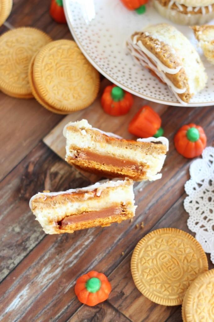 pumpkin spice oreo cheesecakes 17