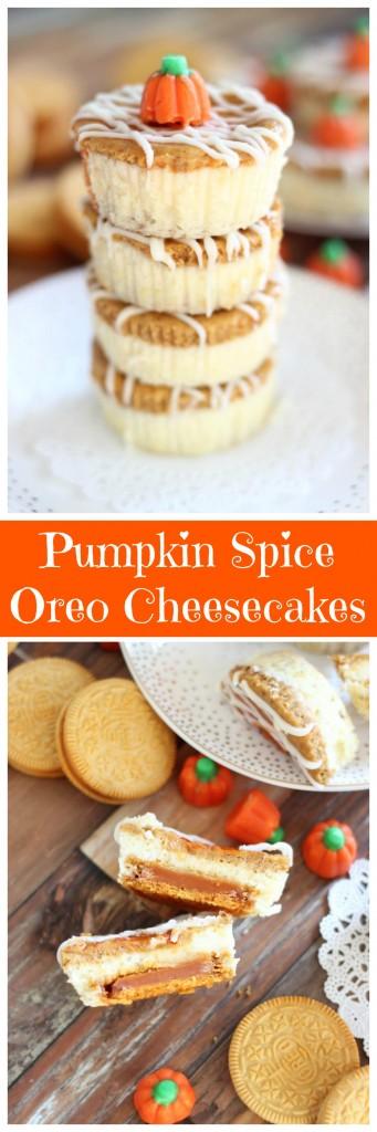 pumpkin spice oreo cheesecakes pin