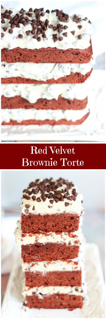 red velvet brownie torte pin