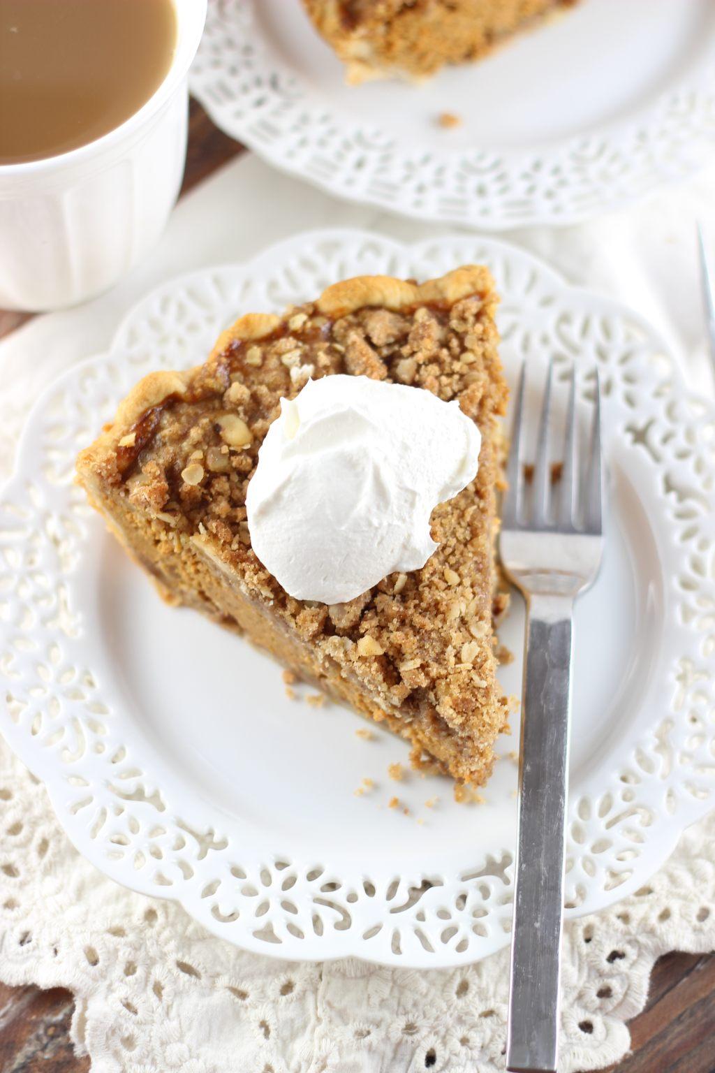 pumpkin pie with almond brittle cranberry white chocolate hazelnut pie ...
