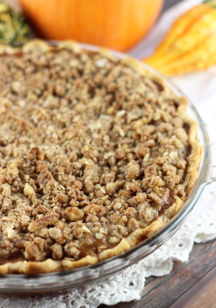 walnut streusel pumpkin pie 9