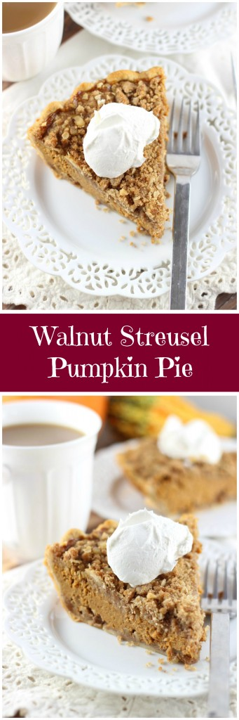 ... brown sugar, butter, and chopped walnuts in this delicious pumpkin pie
