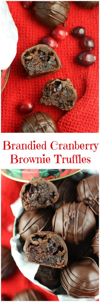 brandied cranberry brownie truffles 7