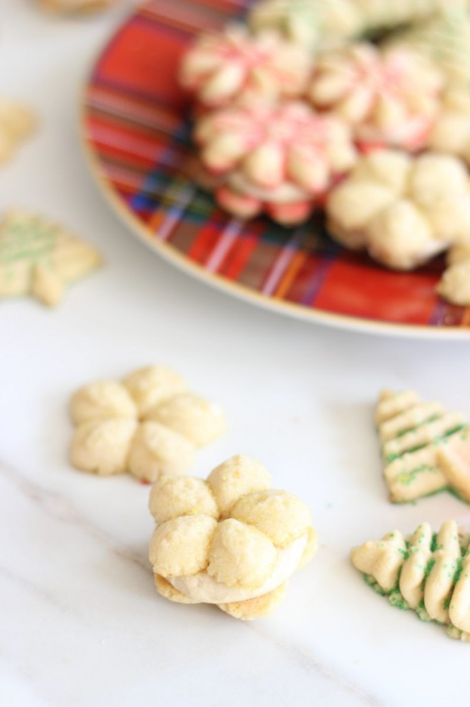 brown butter spritz cookie sandwiches 9