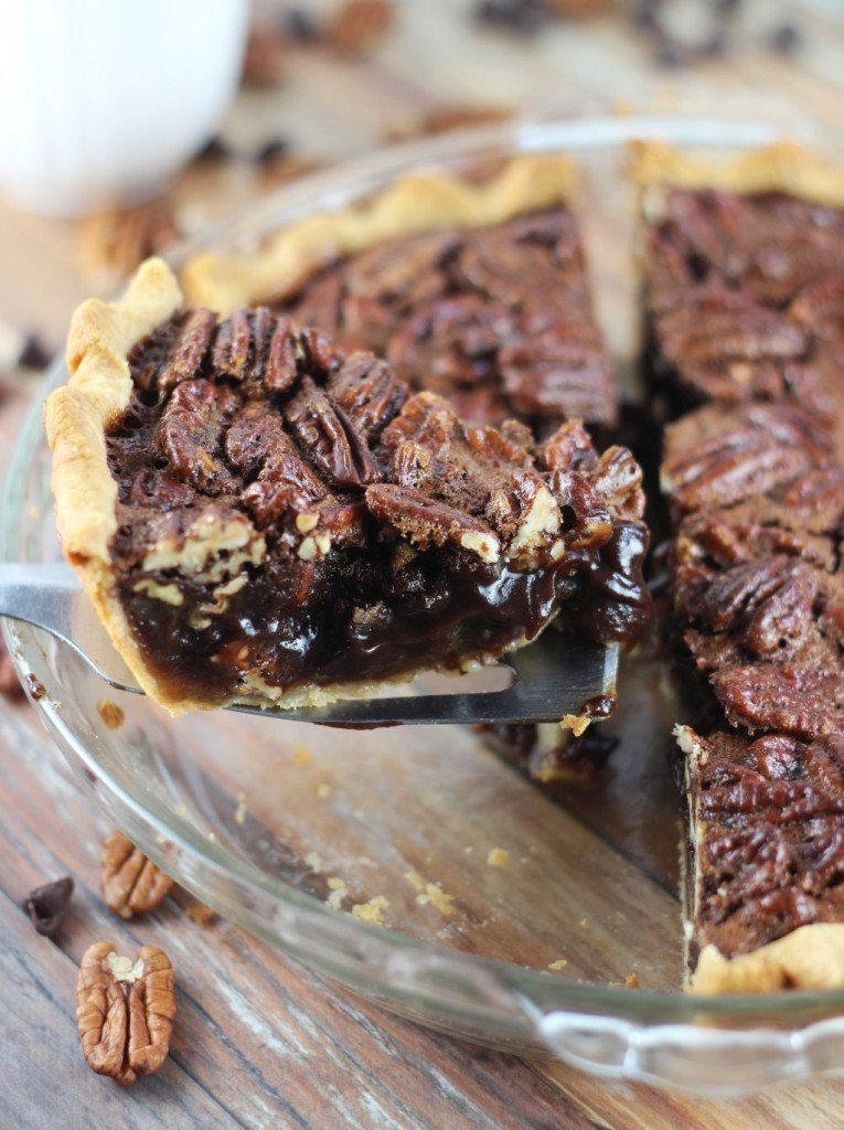 chocolate espresso pecan pie 14