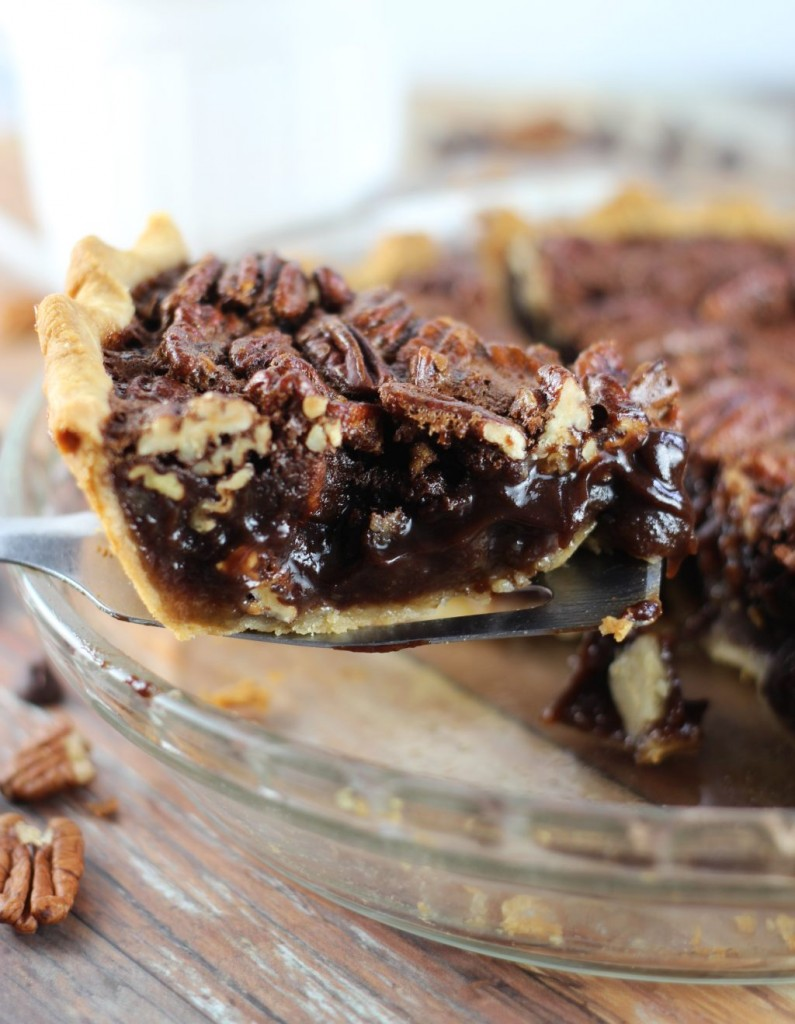 chocolate espresso pecan pie 16