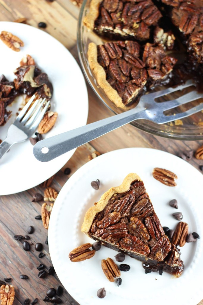 chocolate espresso pecan pie 17