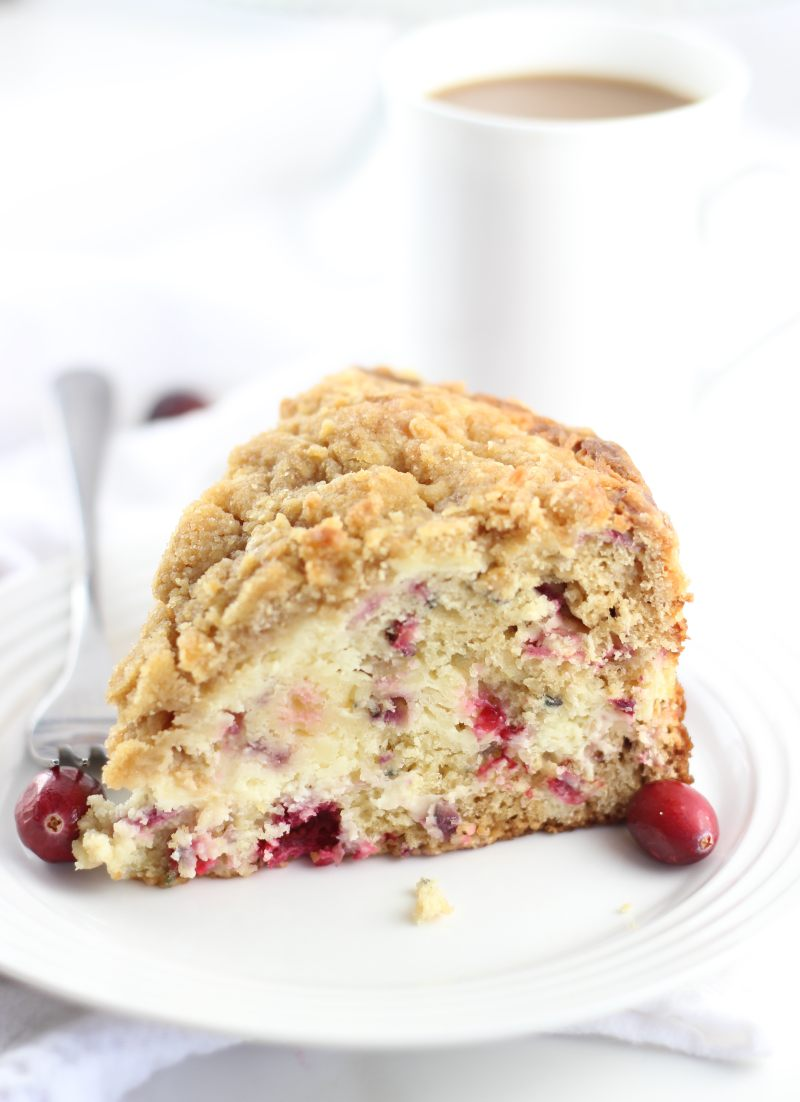 Cranberry Cheesecake Crumb Coffee Cake