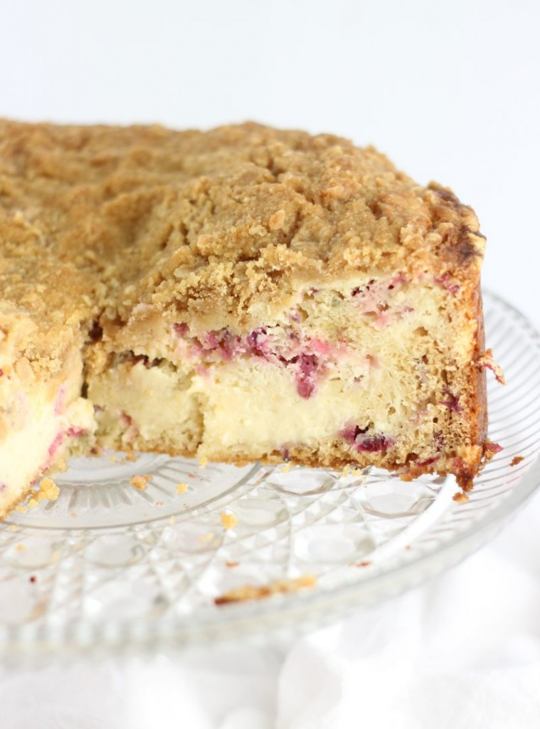 cranberry cheesecake crumb coffee cake recipe