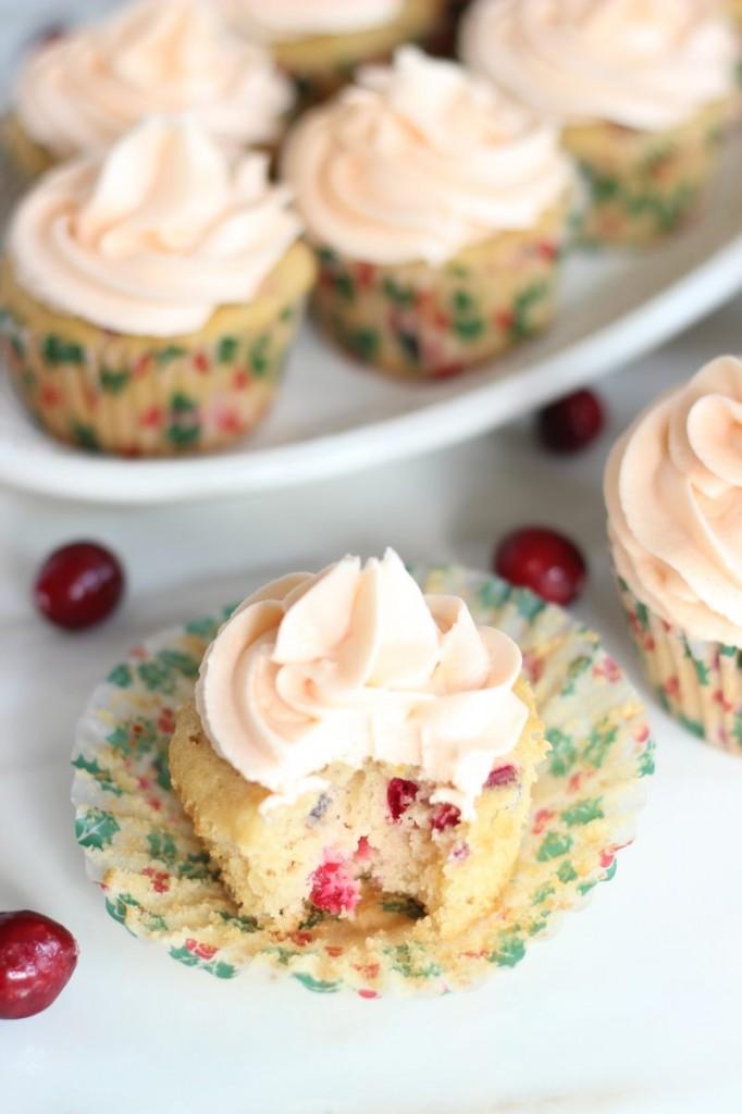 cranberry orange cupcakes with orange buttercream 13