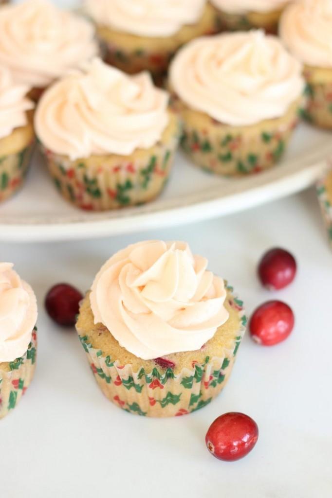 cranberry orange cupcakes with orange buttercream 3