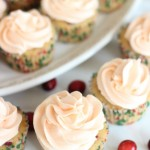 Cranberry Orange Cupcakes with Orange Buttercream