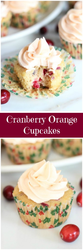 cranberry orange cupcakes with orange buttercream pin