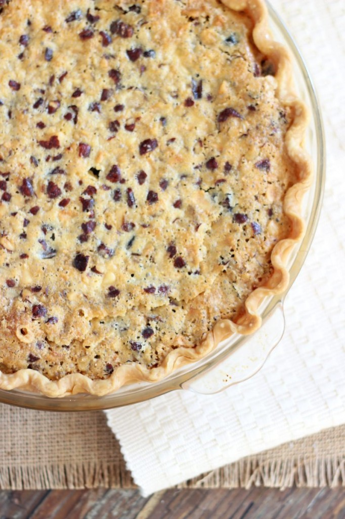 cranberry white chocolate hazelnut pie 1