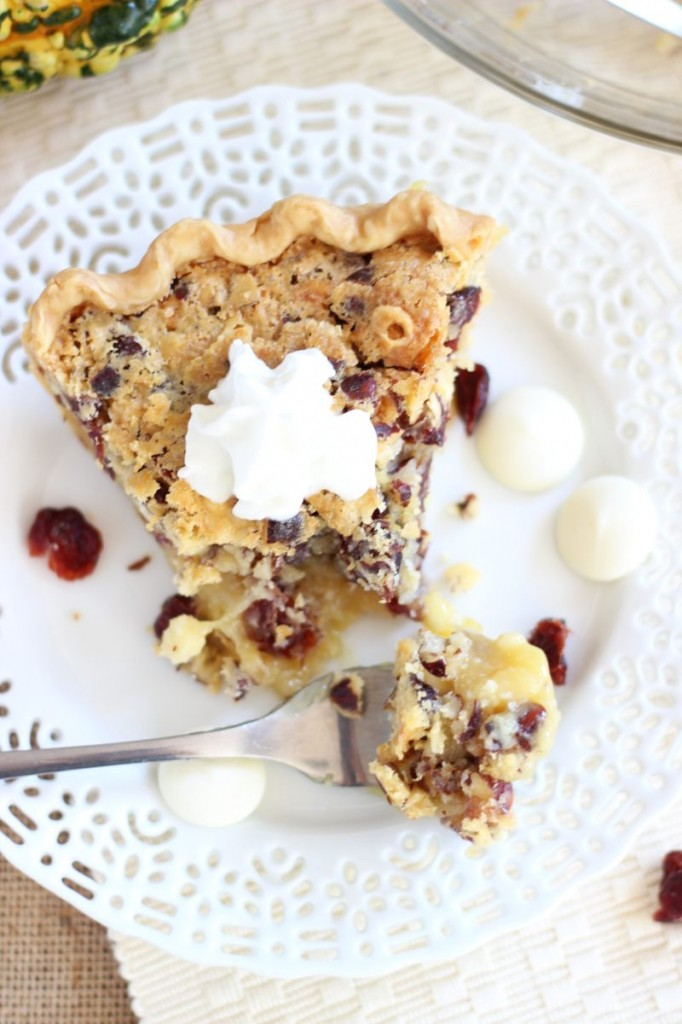 cranberry white chocolate hazelnut pie 12