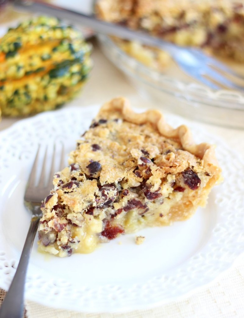 cranberry white chocolate hazelnut pie 7