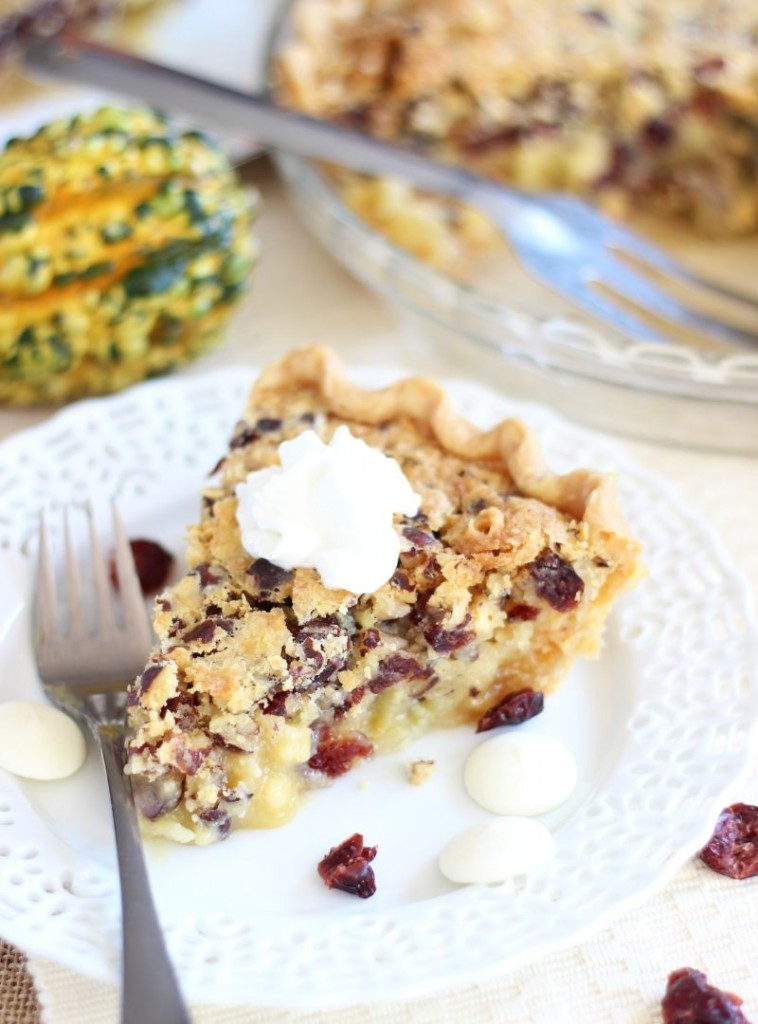 cranberry white chocolate hazelnut pie 9