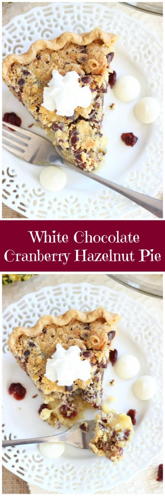 cranberry white chocolate hazelnut pie pin