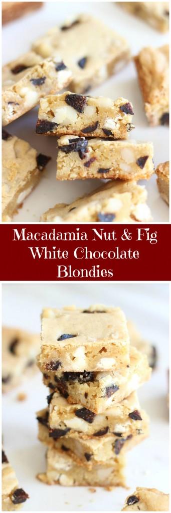 macadamia nut & fig white chocolate blondies pin