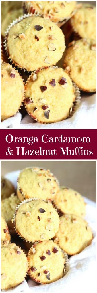 orange cardamom & hazelnut muffins pin
