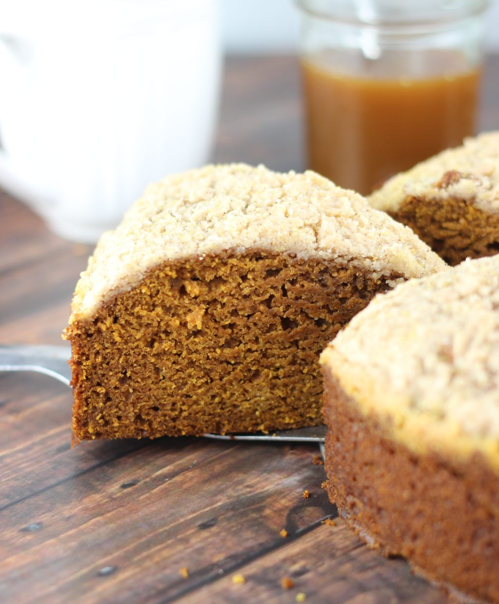 Pumpkin Gingerbread Crumb Coffee Cake