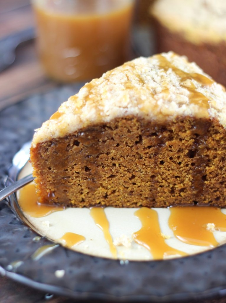 pumpkin gingerbread crumb coffee cake 24