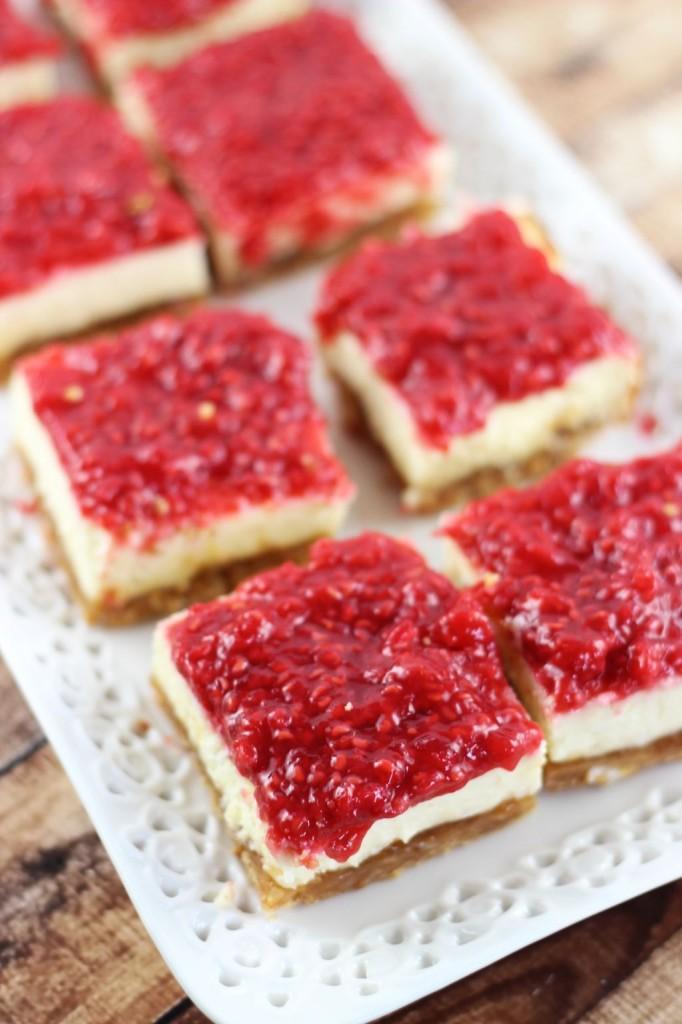 raspberry peach cheesecake bars 4