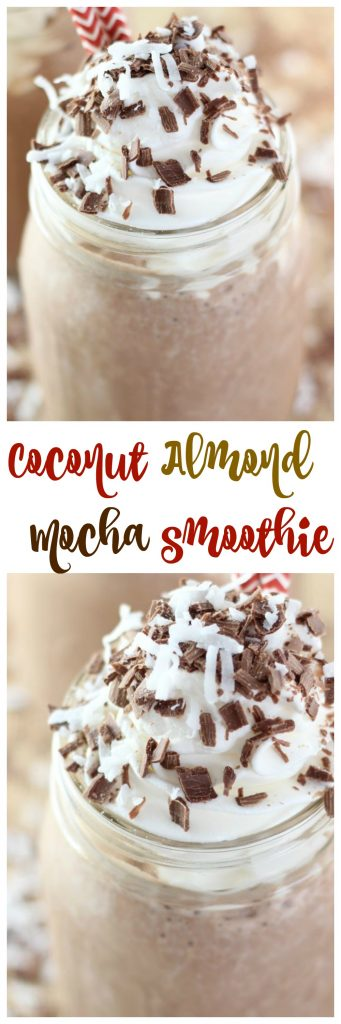 Coconut Almond Mocha Smoothie pin 1