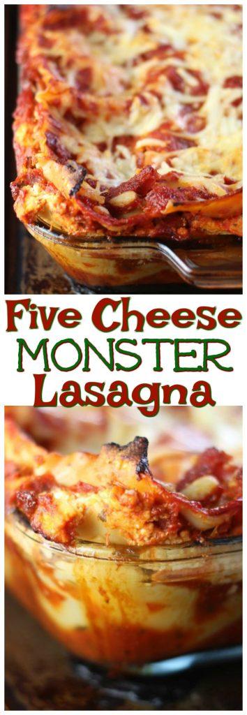 Five Cheese Monster Lasagna pin 2