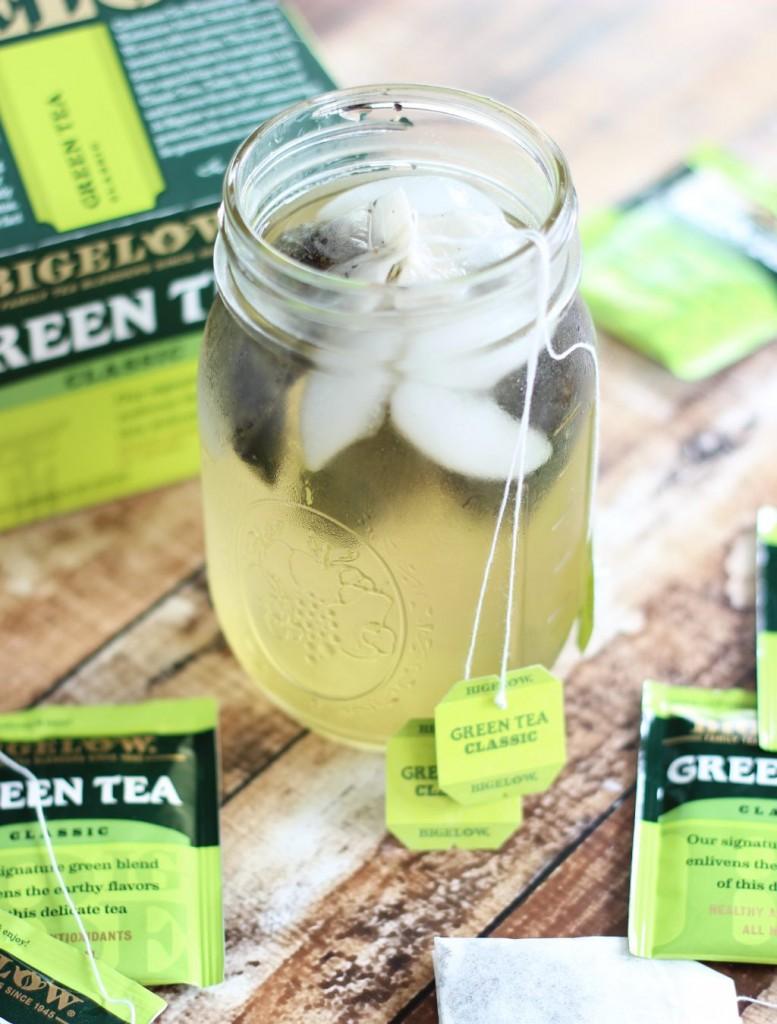 blueberry green tea protein smoothie 1