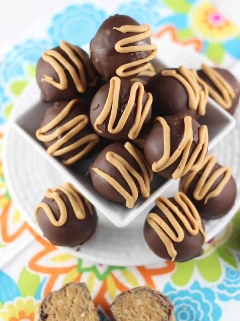 chocolate peanut butter cake truffles 1