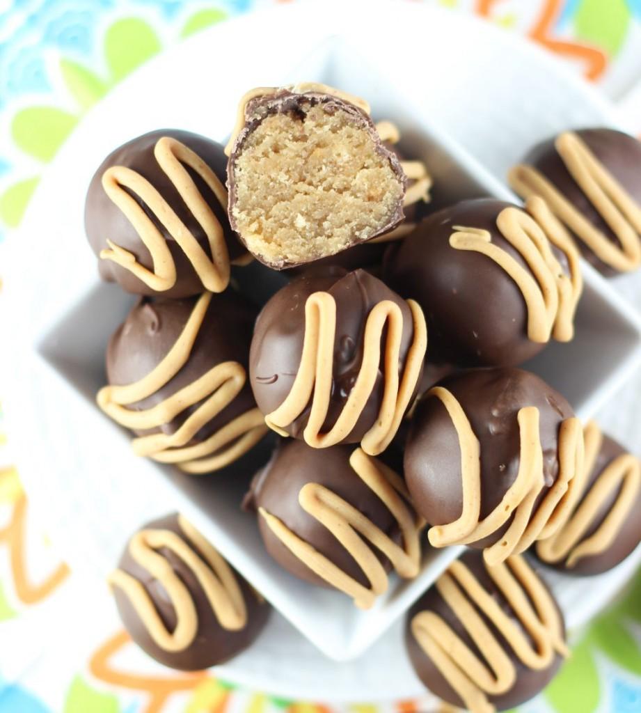 chocolate peanut butter cake truffles 12